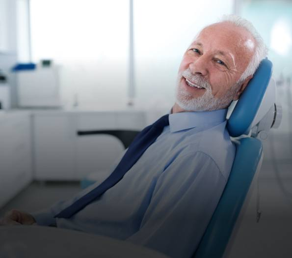 Man sharing smile  during dental exam