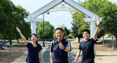 Our three Fresno dentists at Fresno Old Town Trail