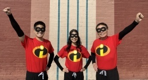 Dentists wearing the Incredibles costume