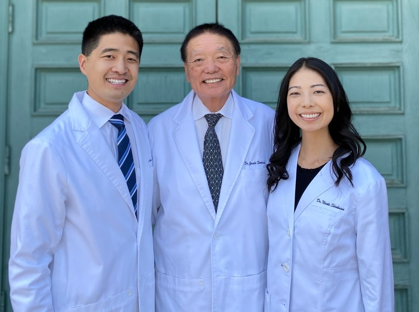 Fresno California dentists Doctors Adam, Gerald, and Nicole Shinkawa